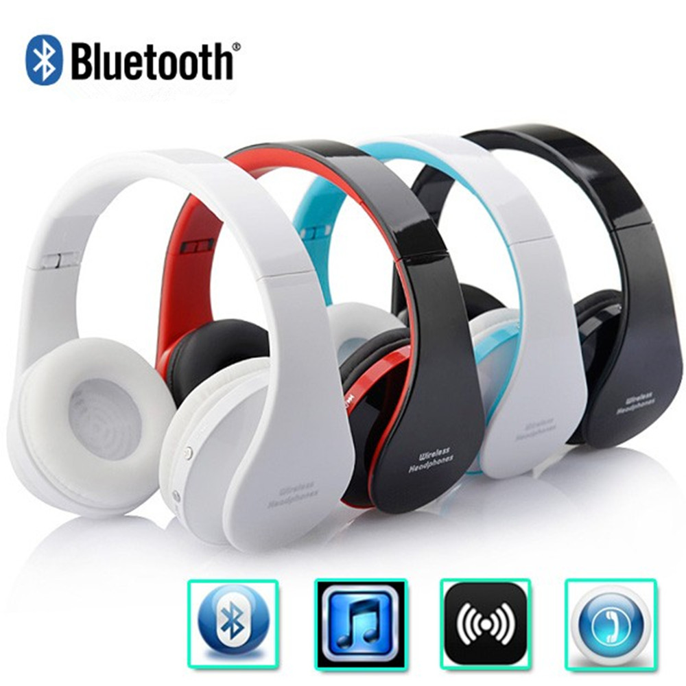 Sport HIFI Wireless Bluetooth Earphone Foldable Stereo Portable Handsfree Mic Headset Headphone For iPhone For Samsung Cellphone
