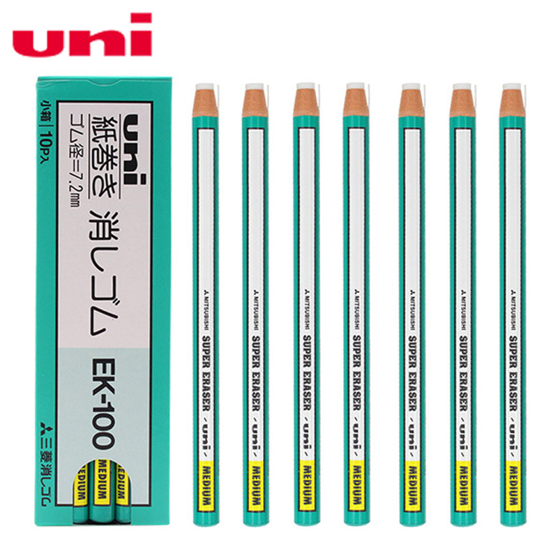 Uni Ek-100 Roll Paper Eraser 2 Pcs Pencil Eraser For School And Office Art Painting Art Sketch Detail Rubbing Supplies
