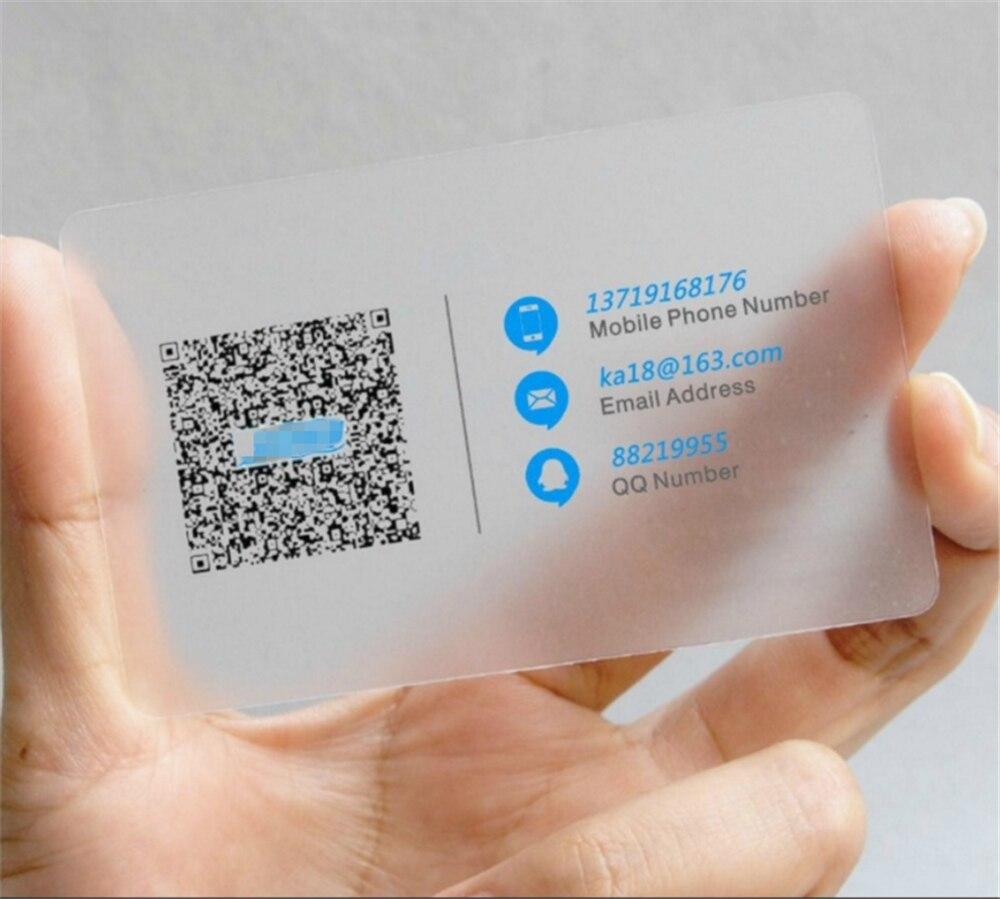 500pcs Personalizzato CR80 85.5*54 millimetri un lato stampato in pvc trasparente carta regalo di affari per il personale-in Biglietti da visita da Articoli per scuola e ufficio su  Gruppo 1