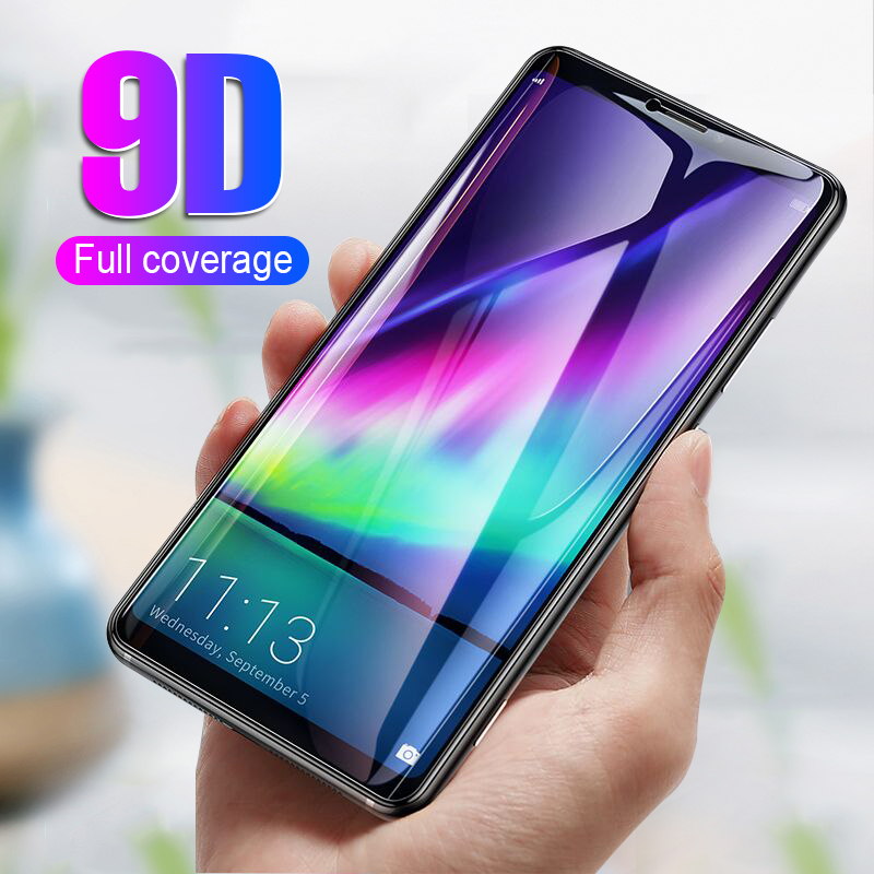 9D Full Protective Screen Glass  On The For Huawei P20 Mate 10 Honor 10 8 9 Lite Tempered Glass Mate 10 P20 Pro Protector Film