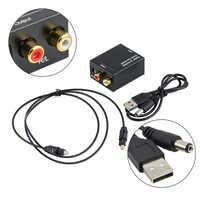 Adaptador de Audio con 3,5mm Jack para Xbox360 de Audio Premium convertir Digital óptico de la fibra de Metal de convertidor de Audio RCA L/ R decodificador