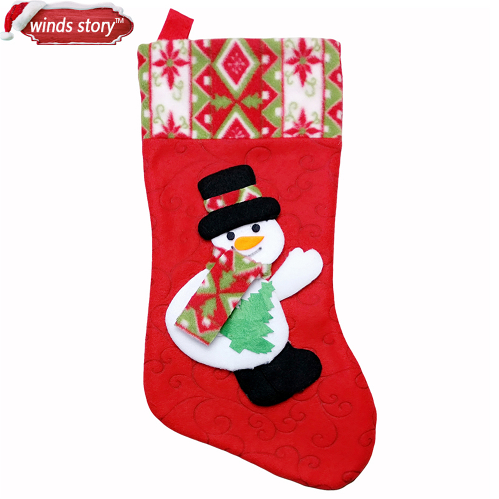 Uncategorized Christmas Stocking Story 2pcs cute christmas stocking decoration santa claus snowman gift candy bag indoor xmas decor sock decorative fireplace in sto