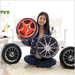 Cushions Pillow Filling Plush-Cushion/simulate-Tire 1pc 3D WITH 37CM Wheel-Tires Automobile