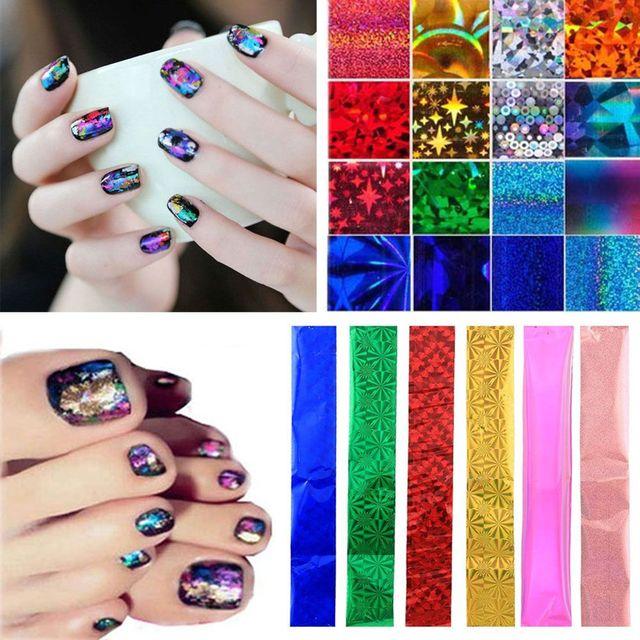 50 Stkspartij Diy Nail Art Transfer Folie Galaxy Stickers Ster Tips