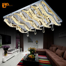 new modern LED crystal chandeliers lighting lustres chandelier with remote control(China)