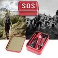 Novo Portátil Caixa de Equipamento SOS De Emergência Kit de Sobrevivência Ao Ar Livre Camping Caminhadas Faca Multi-função Ferramenta Equipamento de Sobrevivência Da Vida Selvagem