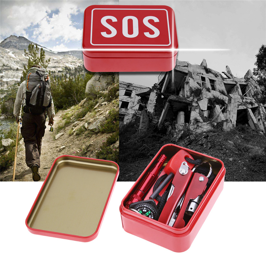 Nueva Portátil SOS de Emergencia Kit de Supervivencia Al Aire Libre Que Acampan