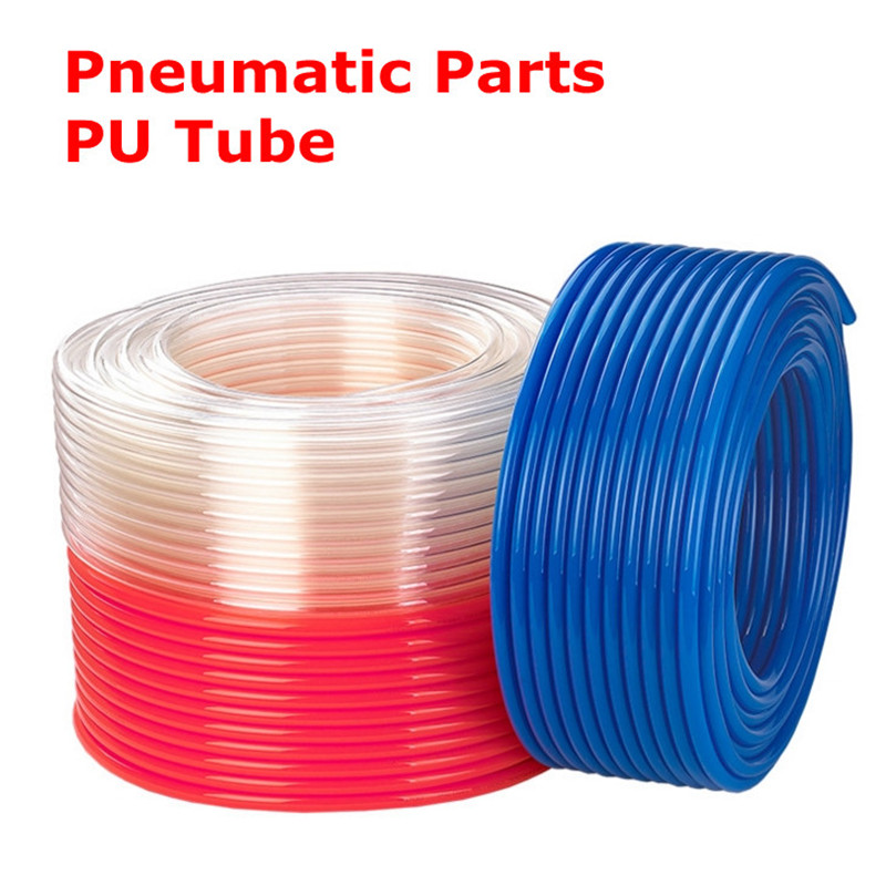 1 meter Pneumatic pats PU tube 8*5 mm 4*2.5 mm 6*4 mm 10*6.5 mm 12*8 air pipe Air compressor hose transparent color air pu buis pneumatic components pneumatic hose pipe tube id 4 mm od 6 mm 200 meter