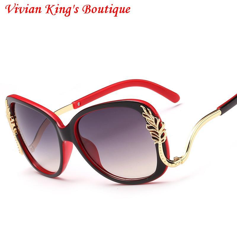 2017 Women Sunglasses Butterfly Frame Oversized Lady Upside Down Leg ...