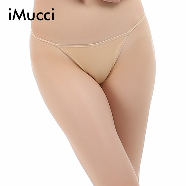 Imucci Professional Girl Ballet Dance G String Beige Low Waist Thong T Back Bikini