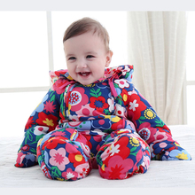 Flying Whales Thicken baby Snowsuit Kids for 6-24 month