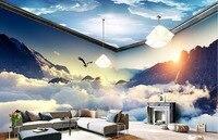 Custom Dream Clouds And Mountains 3D Wallpaper Living Room Modern Colorful TV Desktop Wallpaper HD Fashion