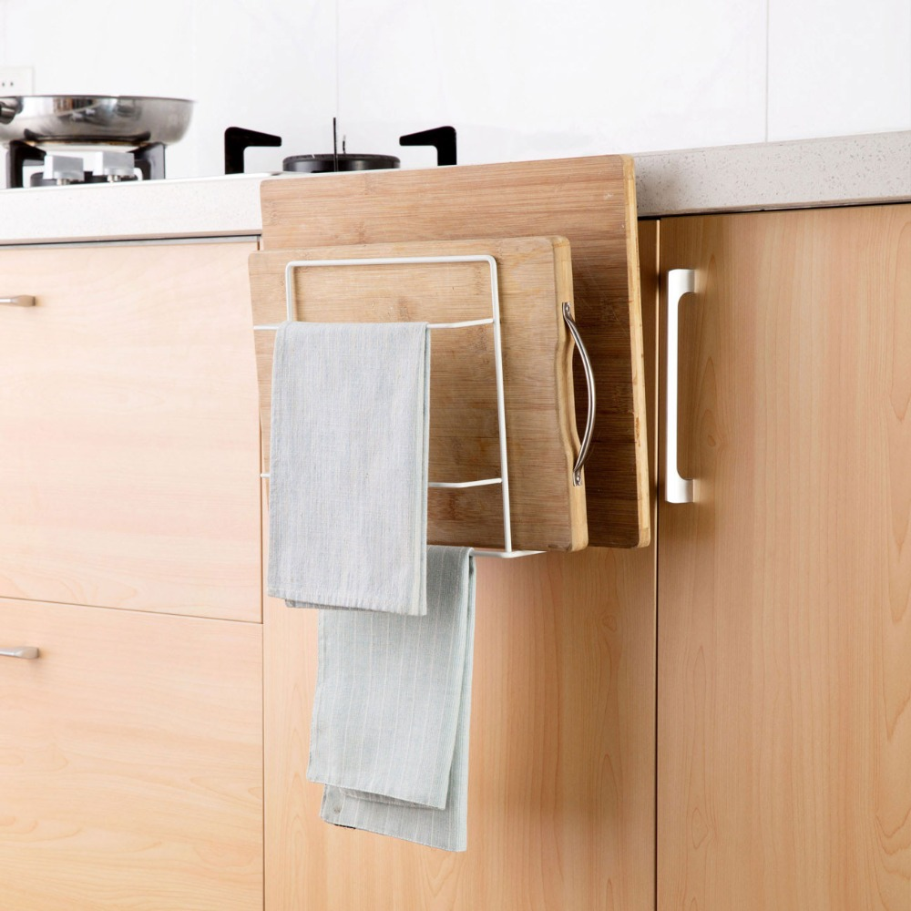 OTHERHOUSE Kitchen Organizer and Dish Cloth Rag Holder for hanging Kitchen Towel 1