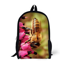 fancy insect School Backpack for Child Cool Book bag for teens Travel Bag  for boy pretty Print honey bee pattern 467ddf54521c7