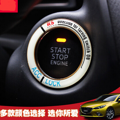 Lumiuous Car Styling Start Stop Button Ignition Key Ring For Opel
