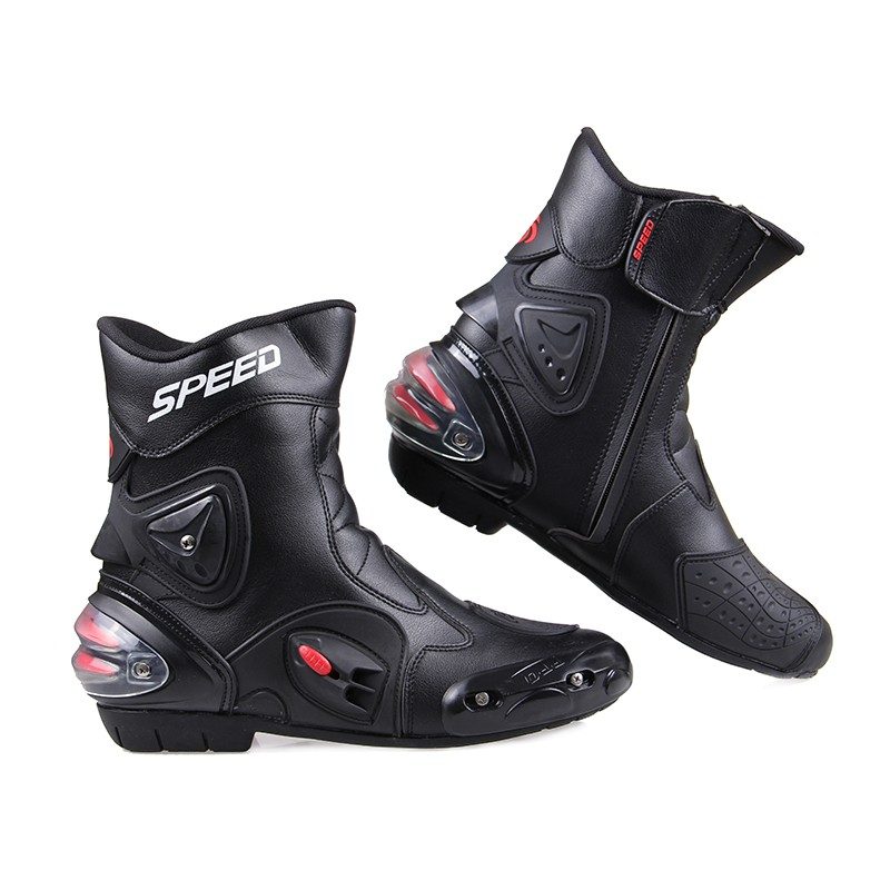 ФОТО  Professional Ankle Joint Protection Motorcycle Boots Pro-Biker Speed Boots for Off Road Shoes Racing Motocross Boots