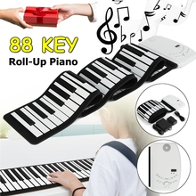 SENRHY 88 Keys Flexible Foldable Piano Portable Electric Digital Roll up Keyboard Piano For Musical Instruments