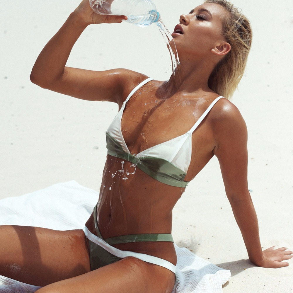 2017 Hot Design Sexy Brazilian Bikini Swimwear Women Swimsuit Push Up Bikinis Set patchwork Bathing Suit maillot de bain femme micro bikini brazilian bikini palm leaf print hot sexy maillot de bain femme push up tops swimsuit women tanga bottom swimwear