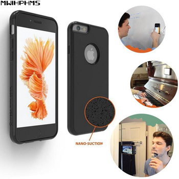 Anti-gravity Case for iphone8 7 8/7plus 6s plus Magical Anti gravity Nano Suction Cover for iphone5s SE case mobile phone cover image