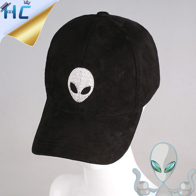 alien patch baseball cap embroidery suede hip hop hat men women black pink nostromo tumblr