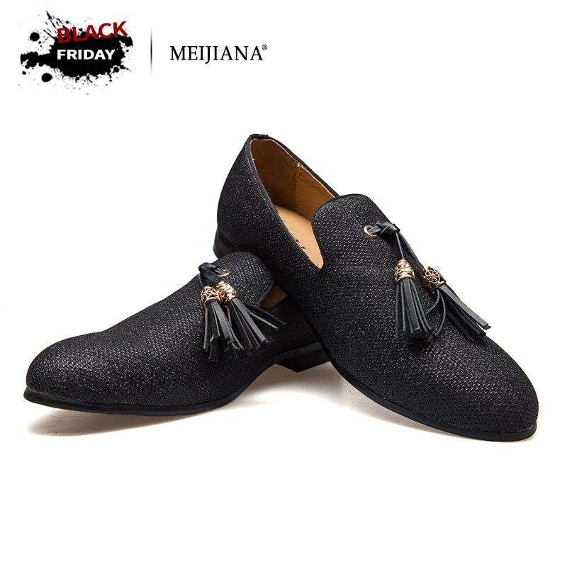 Main En Métal de mode or Gland de Mocassins Fond Rouge Mocassins Gentleman De Luxe Mode Stress Chaussures Hommes Marque Hommes Chaussures