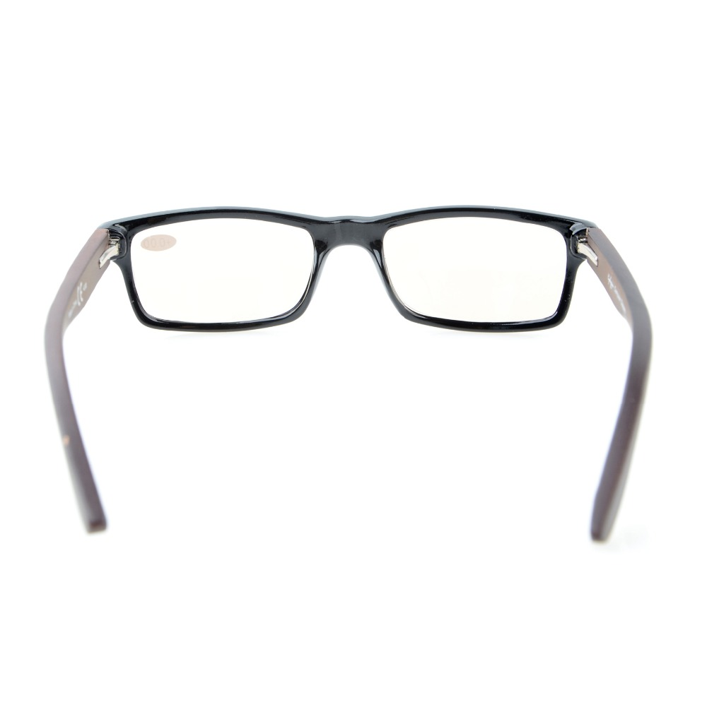 d6d6566f517 CG007 Eyekepper Computer Readers Quality Spring Hinges Wood Arms Mens Womens  Amber Tinted Computer Reading Glasses +0.00 +4.00-in Reading Glasses from  ...