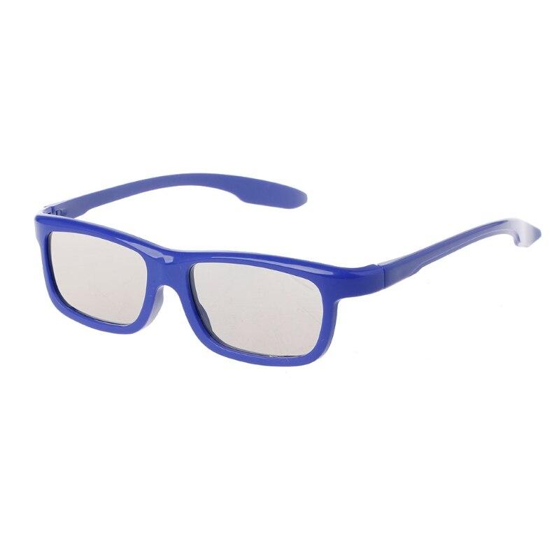 Circular Polarized Passive 3D Stereo Glasses Black Frame For Real D 3D TV Cinema
