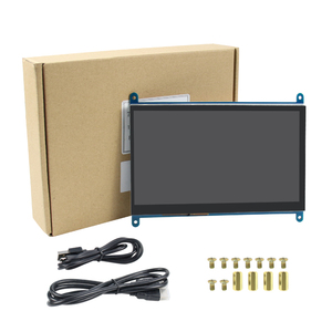 Image 4 - 7 inch Raspberry Pi 3 Model B+ LCD Display Touch Screen LCD 1024*600  HDMI TFT Monitor + Holder Case for Raspberry Pi 3