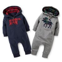 2016 Fashion Toddler Baby Boys Girls Cotton Long Sleeve Warm Romper Winter Spring One Piece Suit