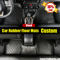 DHL Free Shipping Car Logo Rubber Pat Material Floor Liner Kit Mat For Toyota Prado 2700