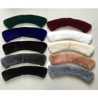 2016 New Rabbit Fur Collar 50CM children Real rabbit fur collar for outerwear coat Fur Scarf Winter Warm Neck Accessories Hats