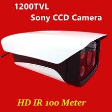 2016 НОВЫЕ HD Водонепроницаемая Камера ИК открытый cctv камеры безопасности видеонаблюдения 1/3 «sony ccd 1200TVL 4 массива СВЕТОДИОДОВ IR100 метров