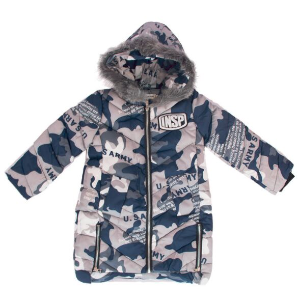 5d34b776b6091 Fashion Zipper Design Boys Long Winter Coat Keep Warm Printed Letters Camouflage  Jackets Kids 5 years 16 years Boy Snow Wear-in Down & Parkas from Mother ...