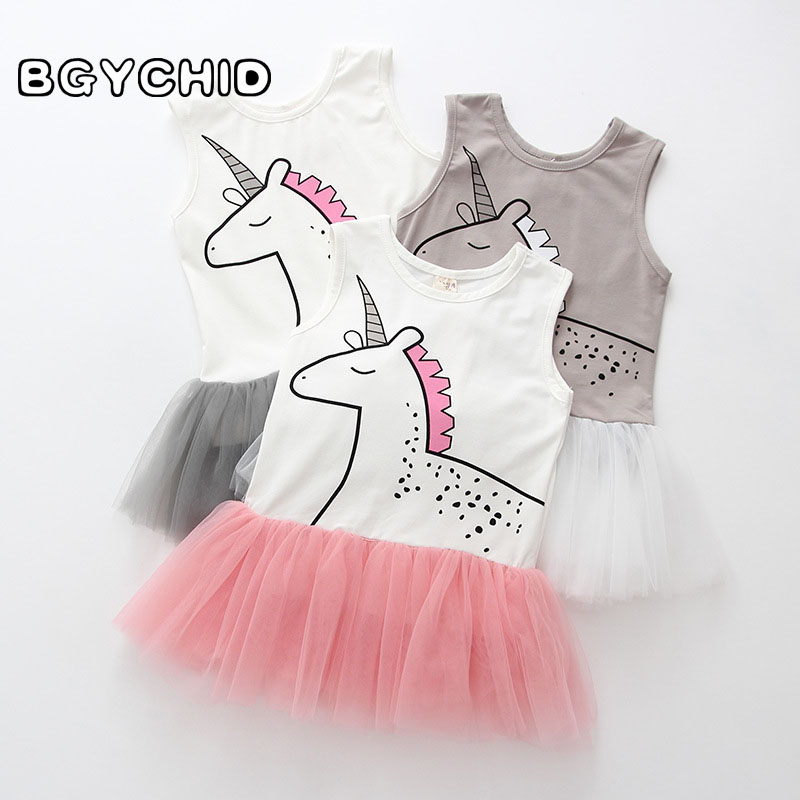 Baby Dress Cotton Unicorn Birthday Outfit Baby Girl Summer Clothes Baby Dresses Summer O-Neck Sweet Lace Baby Dresses Girl