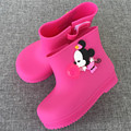 WENDYWU 2107 Kids boots baby girls Rain Boots mickey kids Rainboots Fashion Rubber Shoes Toddler Kids Jelly shoes black