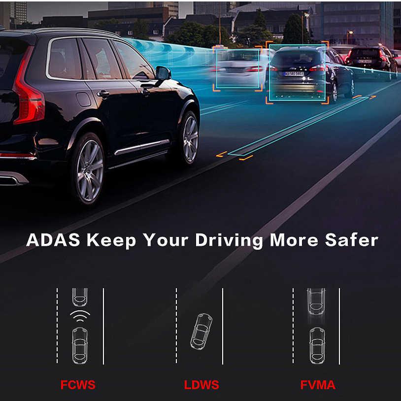 E-ACE E14 Mobil DVR 4G Android Dash Camara 8.0 Inci Video Perekam Gps Navigasi Dashcam Adas Auto Pencatat dengan kamera Belakang Belakang