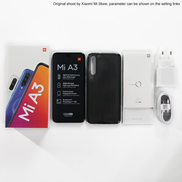 Global Version Xiaomi Mi A3 4GB 64GB Mobile Phone 6.088 4