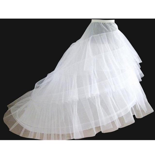 Envío libre del vestido de boda del vestido nupcial del gran cola enaguas de la enagua de la boda
