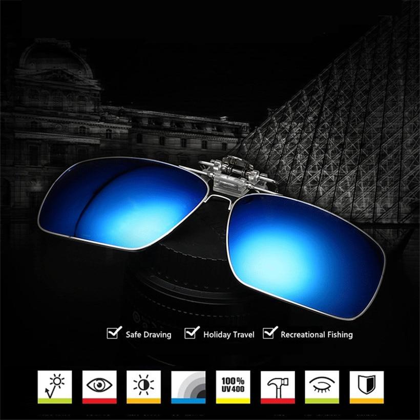 a8e530e13cd26 Lentes De Óculos De Sol das mulheres Dos Homens Polarizados Clip sobre  Óculos de Miopia de Metal Lente de Visão Noturna Óculos de Condução óculos  de Sol Da ...