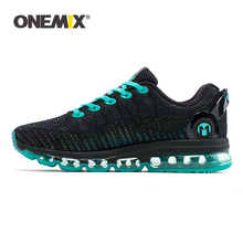 ONEMIX Sneakers Men Running Shoes High Top Cool Reflective Vamp Air Cushion Training Sports Jogging Shoes Plus Size