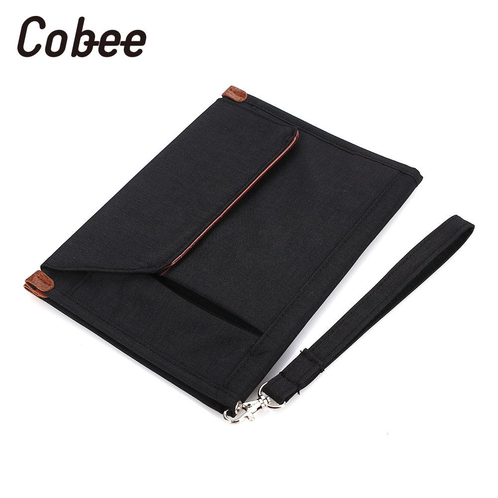 File Pocket File Bag Documents Pouch Polyester Home Portable Waterproof Multi-Function Multi-Layer