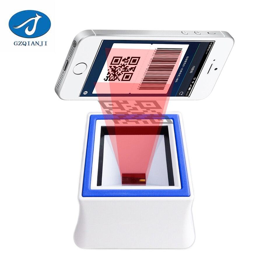 Сканер штрих-кода 2D QR всенаправленный считывания штрих-кодов на платформе настольных штрих Handsfree автоматического Сенсор Сканер чтения 200 ра...