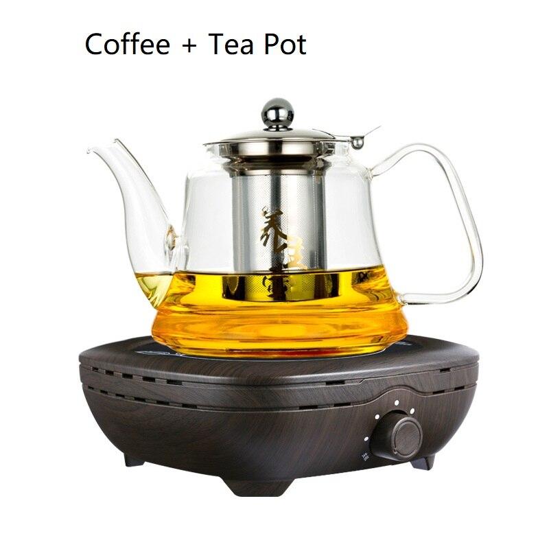 AC220 240V 50 60 hz mini elektrische keramische kookplaat kokend thee verwarming koffie 800 w power FORNUIS KOFFIE HEATER MET THEE POT - 3