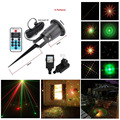 Laser Light Star Projector Outdoor Waterproof Remote RG 8 Big Patterns Garden Holiday Christmas Tree Red Green Landscape Light