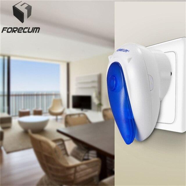 FORECUM 7 7F 12V long range Wireless Doorbell LED 36 tunes home door bell ring waterproof no battery Remote Control Doorbells