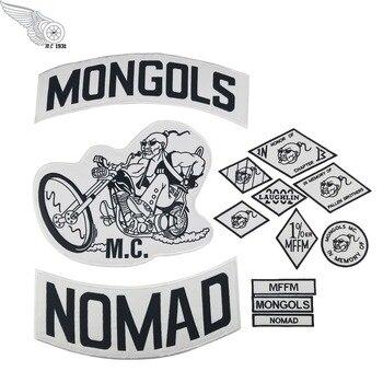 13 шт./набор MONGOLS NOMAD MC вышитая жилетка мотоциклиста патч 1% MFFM в памяти гладить на полной задней части куртки мотоциклетные патч