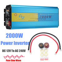 4000W P eak LED Solar Power Inverter DC 12V To AC 240V Pure Sine Wave Converter car caravan boat + LCD Display