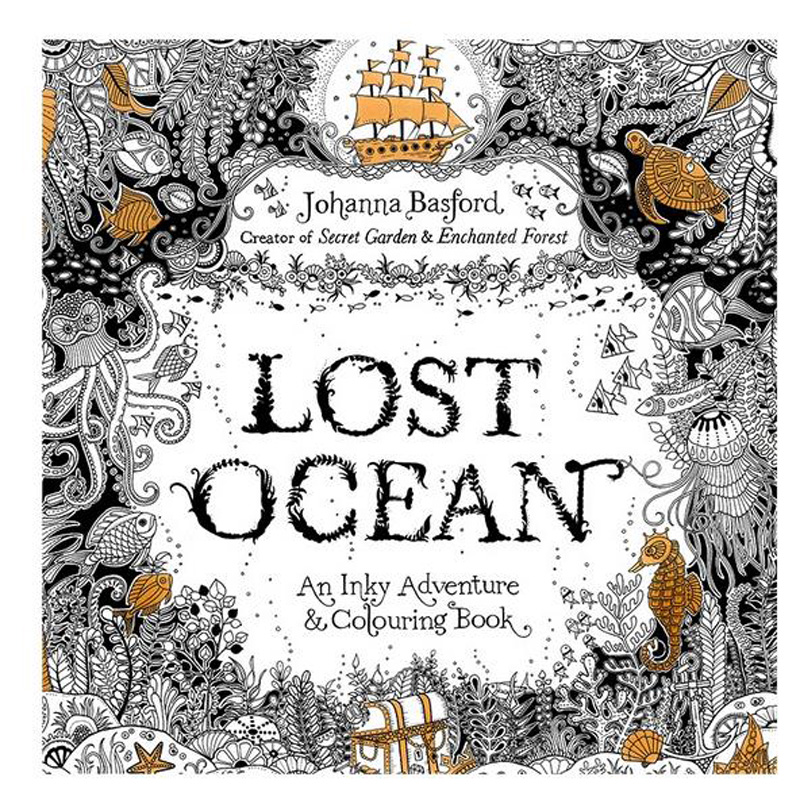 Best Offer 1895 96 Pages English Lost Ocean Coloring Books For