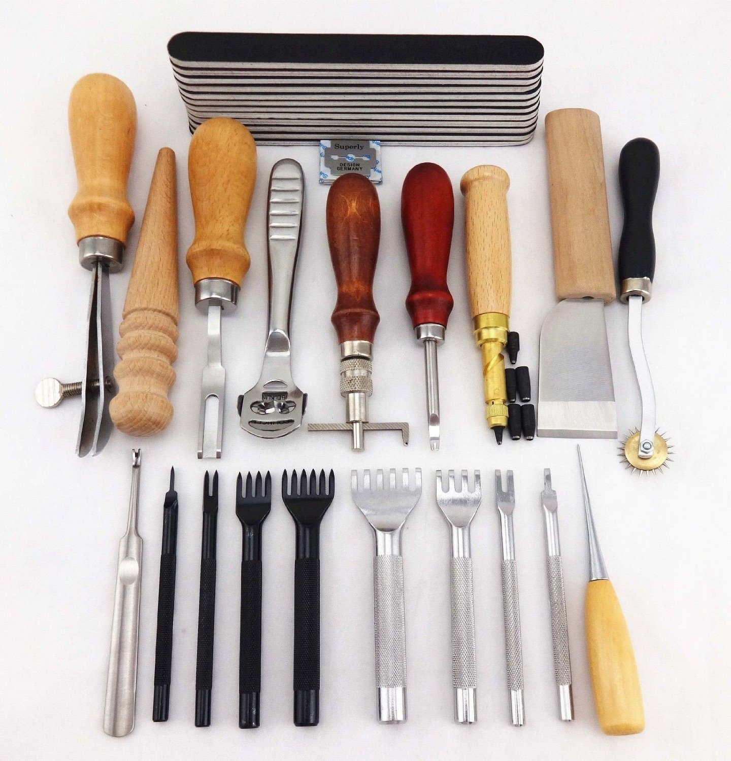 20 Tools Leather craft Hand Sewing Tool Set