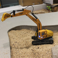 Diecast alloy RC Excavator construction vehicle Engineering Car Model Classic Toy gift for boy Remote Control RC Car Simulation